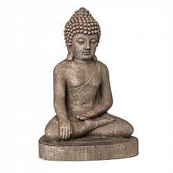 Blumfeldt Gautama, záhradná socha, 43 x 61 x 34 cm, fibreclay, hnedá
