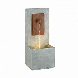 Blumfeldt Milos, fontána, LED, interiér a exteriér, 5 m kábel, cement, sivá