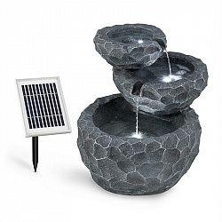 Blumfeldt Murach, solárna kaskádová fontána, akumulátorová prevádzka, 2 W, solárny panel, 3x LED
