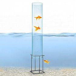 Blumfeldt Skydive 100, pozorovateľňa rýb, 100 cm, Ø 20 cm, akryl, kov, transparentná