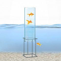 Blumfeldt Skydive 60, pozorovateľňa rýb, 60 cm, Ø 20 cm, akryl, kov, transparentná