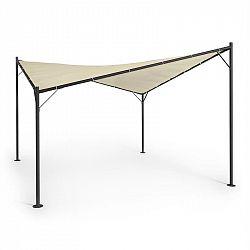 Blumfeldt Sombra, pergola, kompletná sada, 4x4m, polyesterová strecha, béžová