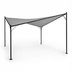 Blumfeldt Sombra, pergola, kompletná sada, 4x4m, polyesterová strecha, sivá