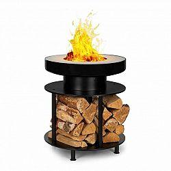 Blumfeldt Wood Stock, ohnisko 2-v-1, BBQ gril, Ø56cm, ušľachtilá oceľ, čierne