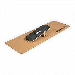 BoarderKING Indoorboard Classic, balančná doska, podložka, valec, drevo/korok, čierna