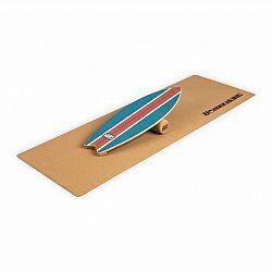 BoarderKING Indoorboard Wave, balančná doska, podložka, valec, drevo/korok, modrá