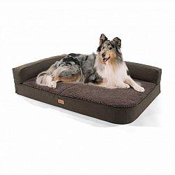 Brunolie Odin, pelech pre psa, podložka pre psa, možnosť prania, ortopedický, protišmykový, priedušný, pamäťová pena, veľkosť L (120 × 12 × 80 cm)