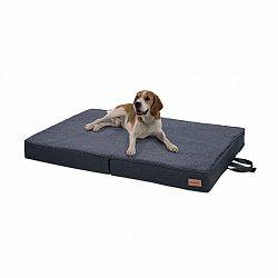 Brunolie Paco, pelech pre psa, psia podložka, prateľný, ortopedický, protišmykový, priedušný, sklápateľný, pamäťová pena, veľkosť L (100 x 10 x 70 cm)
