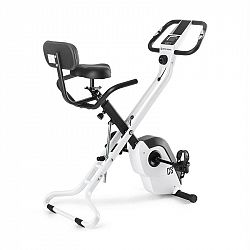 Capital Sports Azura X1 X-Bike, bicykel, do 120 kg, merač tepu, sklápací, 4 kg, biely
