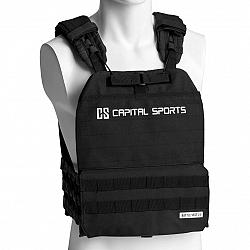 Capital Sports Battlevest 2.0, záťažová vesta, 2 x 4,0 kg závažie, čierna