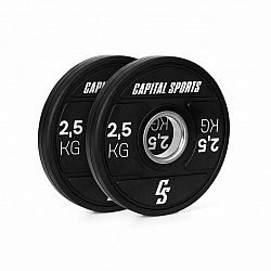 Capital Sports Elongate 2020, kotúče, 2 x 2,5 kg, tvrdá guma, 50,4 mm