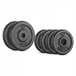Capital Sports IPB 15 kg Set, sada závaží na činky, 4 x 1,25 kg + 2 x 5 kg, 30 mm