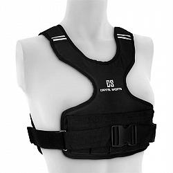 Capital Sports Medusa, záťažová vesta, 5 kg, 1200D, nylonové tkanivo, hrudníkový popruh, čierna