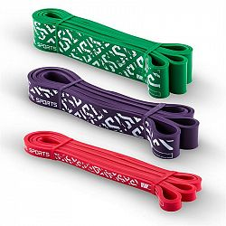 Capital Sports Resistor Set, rezistenčný elastický pás, podpora pri zhyboch, 3 kusy, stupeň záťaže 2, 5 a 7