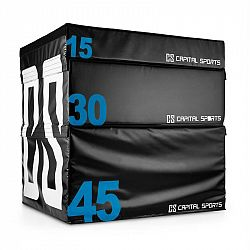 Capital Sports Rookso Set Soft Jump Box, plyobox, čierny, 15/30/45 cm, 3 kusy