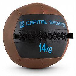 Capital Sports Wallba 14, 14kg, hnedá, Wall Ball (medicinbal) z umelej kože