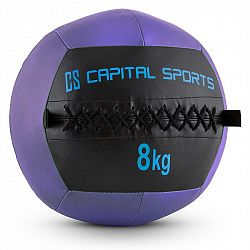 Capital Sports Wallball 8, 8kg, fialová, Wall Ball (medicinbal) z umelej kože