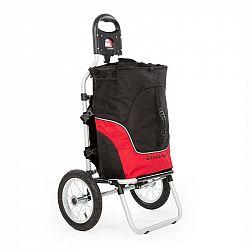 DURAMAXX Carry Red, cyklovozík, vozík za bicykel, ručný vozík, max. nosnosť 20 kg, čierno-červený