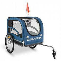 DURAMAXX King Rex, príves na bicykel pre psov, 250 l, 40 kg, oceľové rúry, modrý