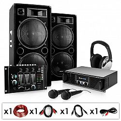 Electronic-Star Block-Party, PA systém, set, zosilňovač, reproduktory, mikrofón a mixážny pult