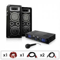 "Electronic-Star DJ PA set ""DJ–25"", zosilňovač, PA repro, mikrofon, 1600W"