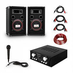 Electronic-Star Easy DJ Set Black, PA systém, PA zosilňovač, 2 x reproduktor, mikrofón, čierny