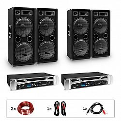 "Electronic-Star eStar Bangkok Rhythm Pro, DJ systém, sada, 2 x PA zosilňovač, 2 x 500 W, 4 x subwoofer, 2 x 12"""