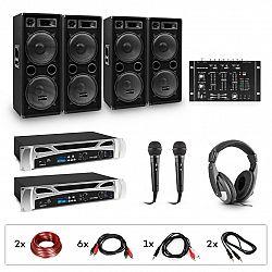 Electronic-Star eStar Bass-Party, DJ systém, sada, 2 x PA zosilňovač, DJ mixér, 4 x subwoofer, slúchadlá
