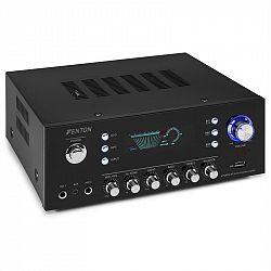 Fenton AV120FM, stereo HiFi zosilňovač, 120 W RMS, (2 x 60 W na 8 Ohm), BT/USB/AUX