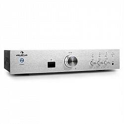 Hi-fi zosilňovač Auna AV2-CD508BT, strieborný, AUX bluetooth