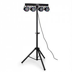 Ibiza DJLIGHT80LED, statív so štyrmi 1 W RGBW LED PAR reflektormi