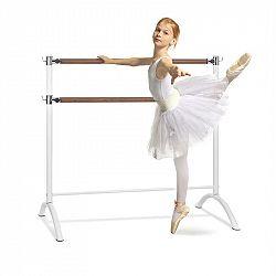 KLARFIT Barre Anna, dvojitá baletná tyč, 110 x 113 cm, 2 x 38 mm Ø, biela