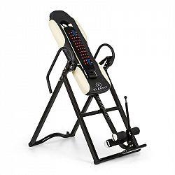 KLARFIT Ease Delux, inverzná lavica, gravitačná posilňovacia lavica, do 136 kg, 1,54-1,98m, béžová
