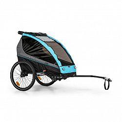 KLARFIT Kiddy King, príves na bicykel pre deti, džogingový kočík, 2-miestny, 40 kg