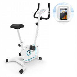 KLARFIT Myon Cycle, domáci trenažér, 12 kg zotrvačná hmotnosť, SmartCardio Studio, biely
