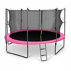 KLARFIT Rocketgirl 430, 430 cm trampolína, vnútorná bezpečnostná sieť, široký rebrík, ružová