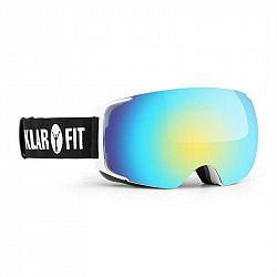 KLARFIT Snow View 2, lyžiarske okuliare, snowboardové okuliare, ochranný povlak, biele