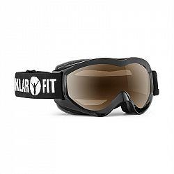 KLARFIT Snow View, čierna, lyžiarske okuliare, snowboardovanie, REVO vrstva, celorámové
