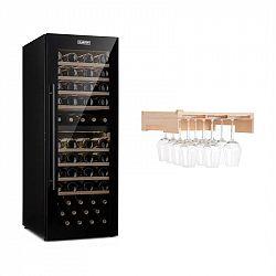 Klarstein Barossa 77 Duo, vinotéka, 2 zóny, 191 l/77 fliaš, polica na poháre na víno