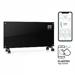 Klarstein Bornholm Smart, konvekčný ohrievač, 2000 W, WiFi, LED displej, časovač, IP24, čierny