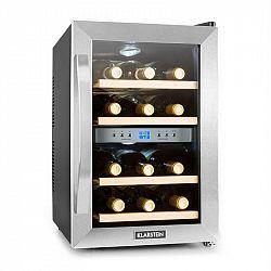 Klarstein, chladnička na víno, 34 l, 12 fliaš