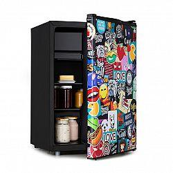 Klarstein Cool Vibe 70+, chladnička, A+, 70 litrov, VividArt Concept, štýl stickerbomb