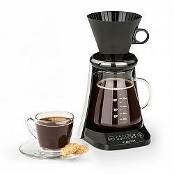 Klarstein Craft Coffee, kávovar, váha, časovač, nadstavec s filtrom, 600 ml, čierny/biely