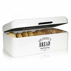 Klarstein Delaware, chlebník, kovový, 42 x 16 x 24,5 cm, výklopné veko, vetracie otvory
