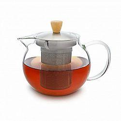 Klarstein Glaswerk Sencha, kanvica na čaj, 0,65 l, sitko z ušľachtilej ocele, borosilikátové sklo, vrchnák