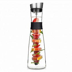 Klarstein Glaswerk Sile, karafa, 1,6 litra, borosilikátové sklo, ovocný špíz s koncovkou