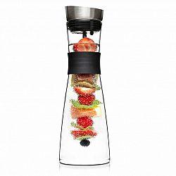 Klarstein Glaswerk Sile, karafa, 1 liter, borosilikátové sklo, ovocný špíz s koncovkou