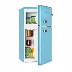 Klarstein Irene, retro chladnička s mrazničkou, 61 l chladnička, 24 l mraznička, modrá