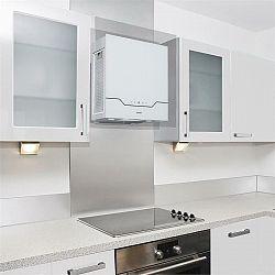 Klarstein Karree digestor 60 cm 640 m³/h LED ušľachtilá oceľ, sklo, biela farba