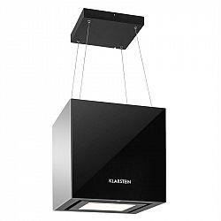 Klarstein Kronleuchter, 600m³/h, čierny, stropný digestor, závesný, LED, sklo, zrkadliace strany